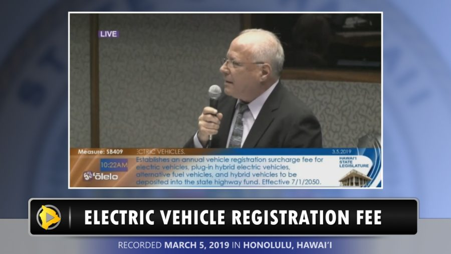 VIDEO: Sen. Ruderman Opposes Electric Vehicle Surcharge