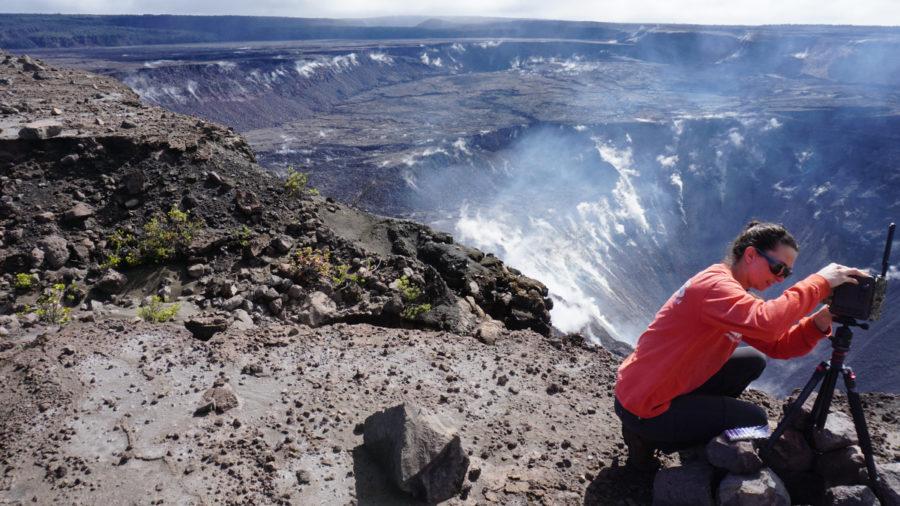 Rockfalls, Sulfur Deposits Observed At Kilauea Summit