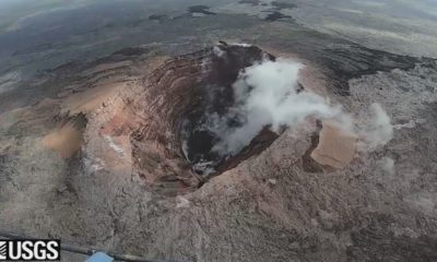 VIDEO: Empty Pu'u O'o Crater Studied As Rockfalls Continue