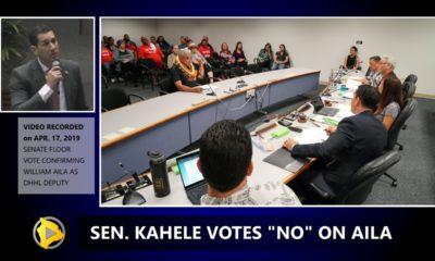 VIDEO: Kahele Votes No On Aila For DHHL Deputy Director