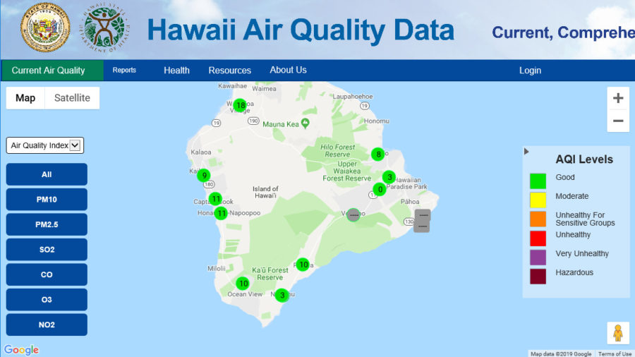 State Air Quality Website Goes Live, One Year After Kilauea Eruption