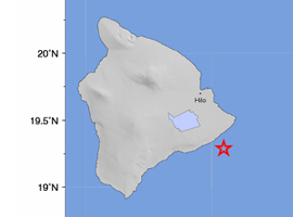 3.4 earthquake off Puna coast on Big Island