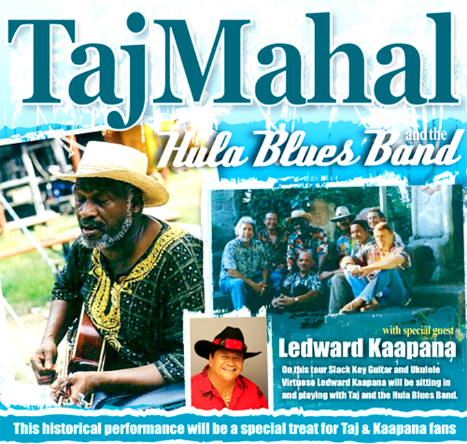 Ledward Kaapana joins Taj Mahal for Honokaa jam