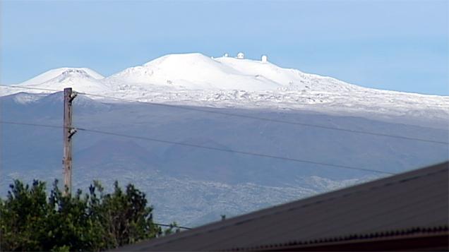 VIDEO: Snow covers Mauna Kea on Hawaii Island
