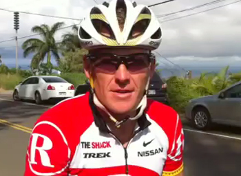 VIDEO: Lance Armstrong conquers Waipio Valley road for charity