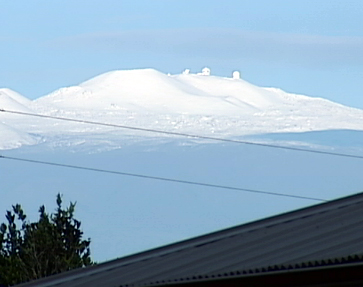 VIDEO: Mauna Kea covered in snow Tuesday morning