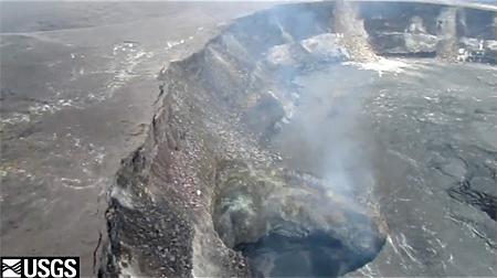 VIDEO: Volcano lava lake creeping closer to vent overflow