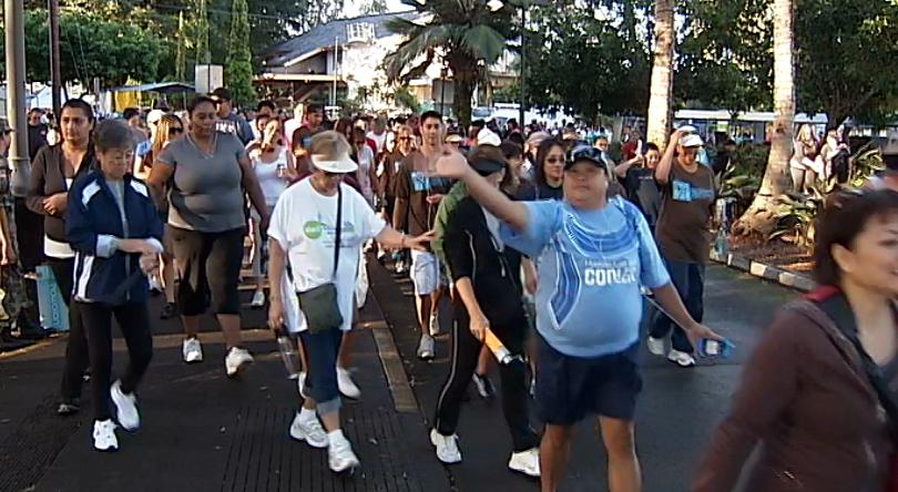 VIDEO: Hundreds hike for Hilo Heart Walk 2011