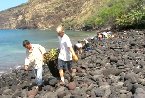 VIDEO: Hawaii tsunami cleanup – community kokua at Napoopoo