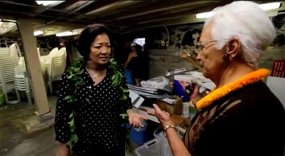 VIDEO: Hirono vows federal help for tsunami ravaged Kona