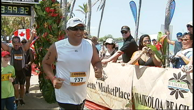 VIDEO: Hawaii Mayor takes on Lavaman triathlon, and finishes