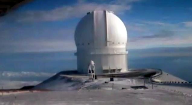VIDEO: White weekend on summit of Mauna Kea