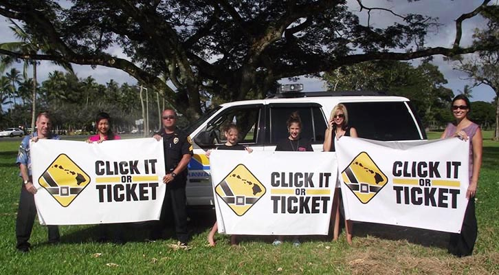 """2011 """"Click It or Ticket"""" Campaign begins on Hawaii Island"""