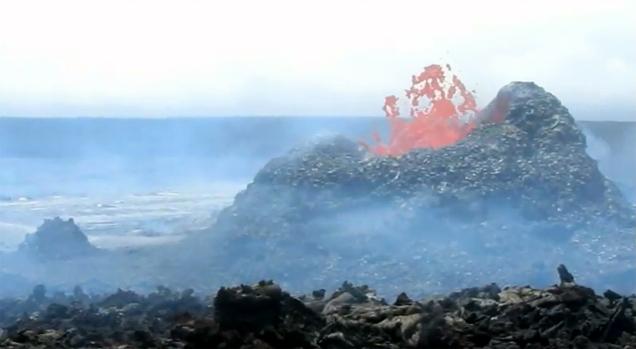 VIDEO: Hawaii volcano update – lava breakout slows