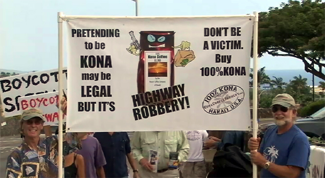 VIDEO: Kona Coffee Farmers call for Safeway boycott