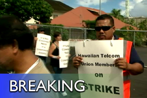 VIDEO: Hawaiian Telcom union members on strike in Hilo