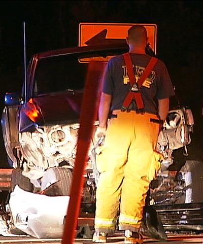 VIDEO: Highway 130 crash during highway 130 meeting