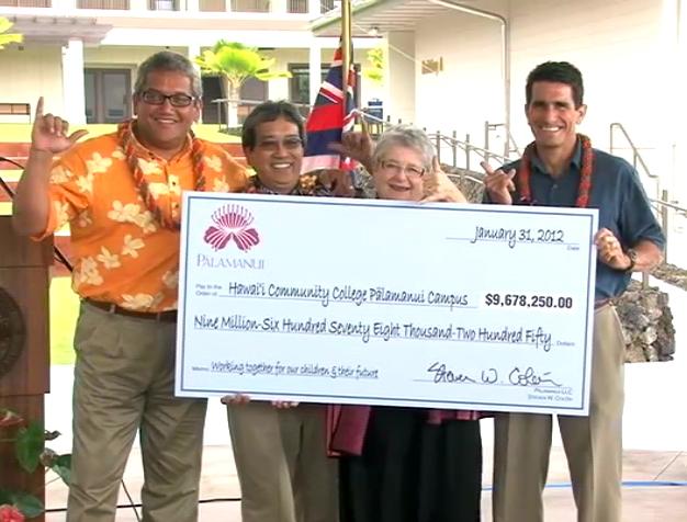 VIDEO: $9.68 million for Hawaii CC Palamanui campus