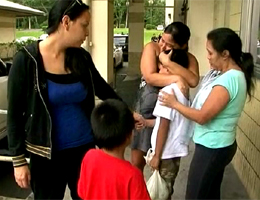 VIDEO: Missing 9 year old re-unites with his family