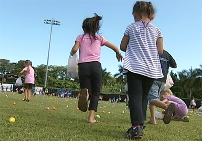 VIDEO: Kids dash for Easter Eggs in Hilo