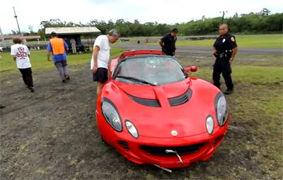 VIDEO: Race car crashes into judges at Hilo Drag Strip
