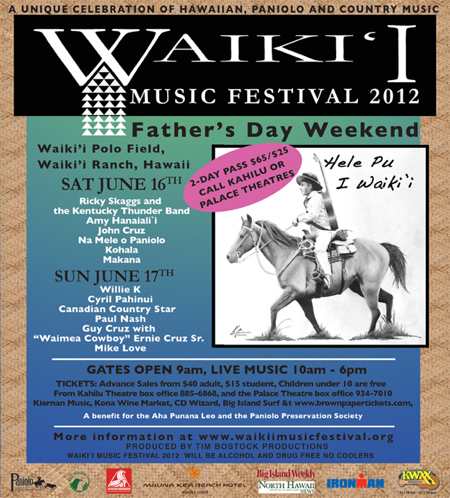 Waikii Music Festival this Father's Day weekend, June 16 & 17th