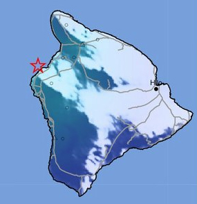 3.8 earthquake shakes just west of Hawaii Island