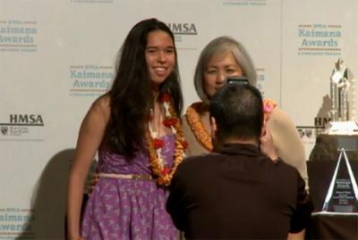 VIDEO: Three Big Island students honored at HMSA Kaimana Awards