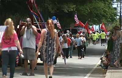 VIDEO: Independence Day Parade gets political in Naalehu