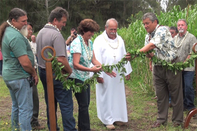 VIDEO: Hawaii County Kapulena Ag Park blessed