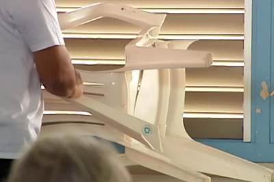 VIDEO: Exploding chairs add tense element to candidate forum