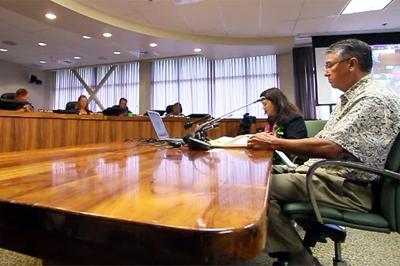VIDEO: Clerk Kawauchi faces Hawaii County Council