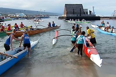 VIDEO: Queen Liliuokalani Long Distance Canoe Race
