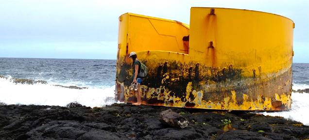 Tsunami debris found on Na'alehu shore?