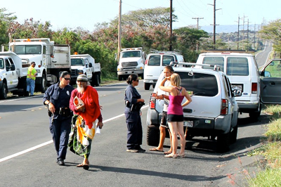 Eviction of Abel Lui and supporters at Kawa underway