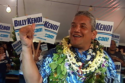 VIDEO: Four more years of Kenoi in Hawaii County after narrow win