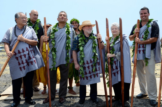 Elected officials, UH administration at Tuesday's Palamanui groundbreaking