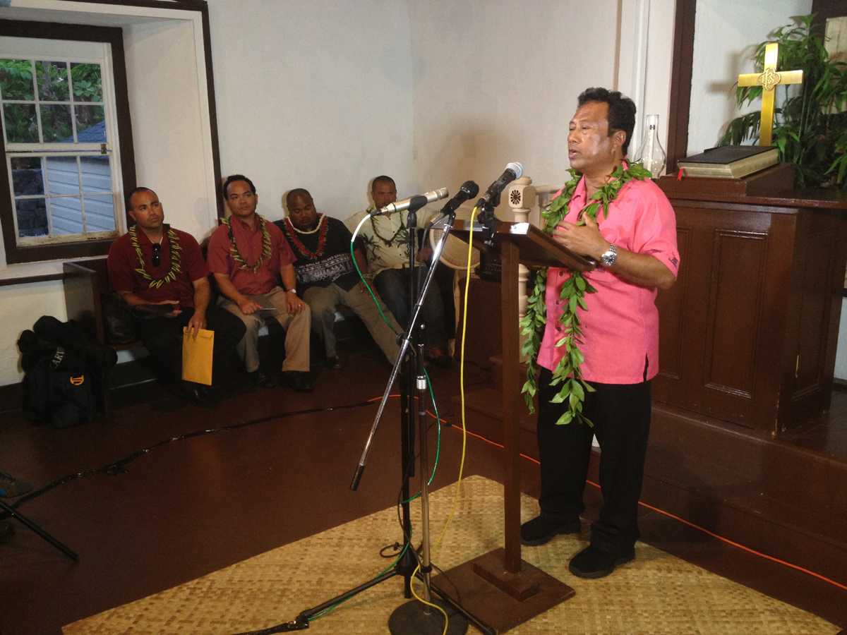 VIDEO: President of Palau speaks in Puako