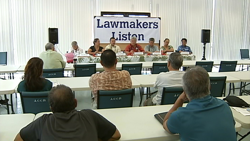 VIDEO: Lawmakers listen at Hilo meeting