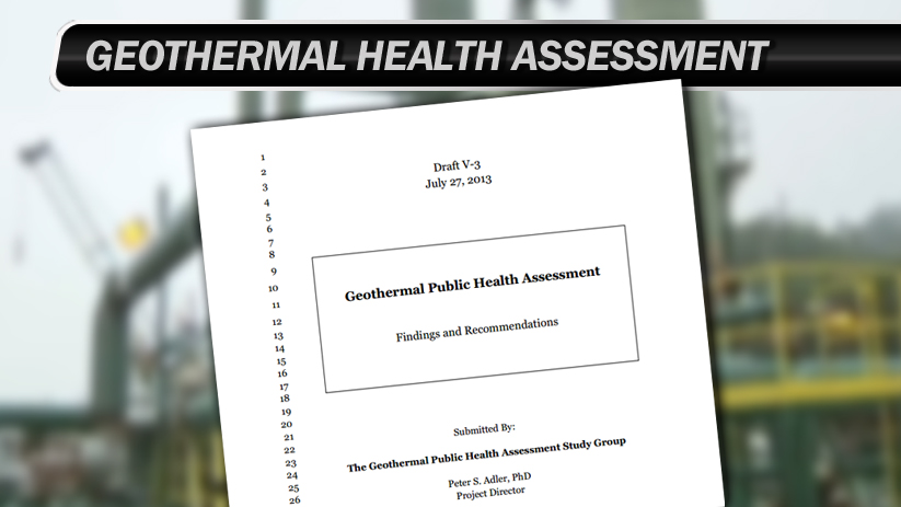 Draft Geothermal Health Assessment published