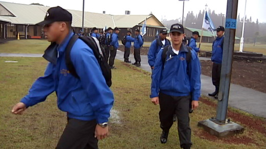 Youth ChalleNGe Academy cadets on the move (2011 photo)