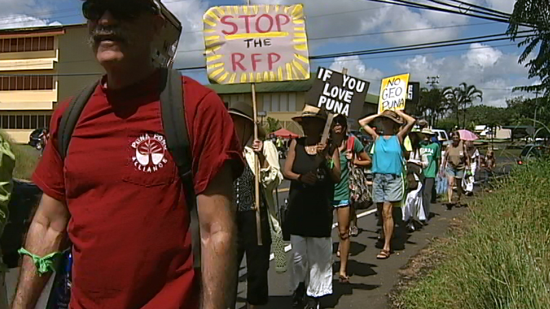 "VIDEO: Puna's geothermal resistance ""March on HELCO"""