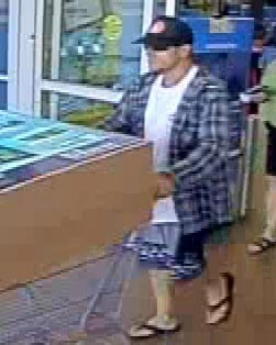 Alleged credit card thief caught on camera