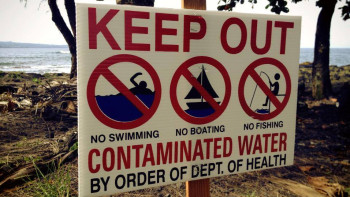 These signs were posted at Palekai in Keaukaha on Friday