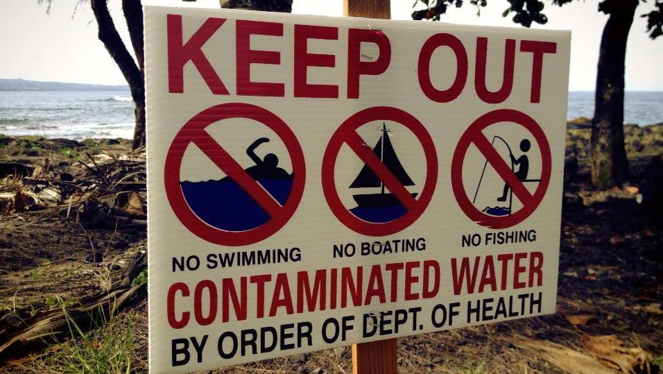 Wastewater discharge contaminates Hilo shore