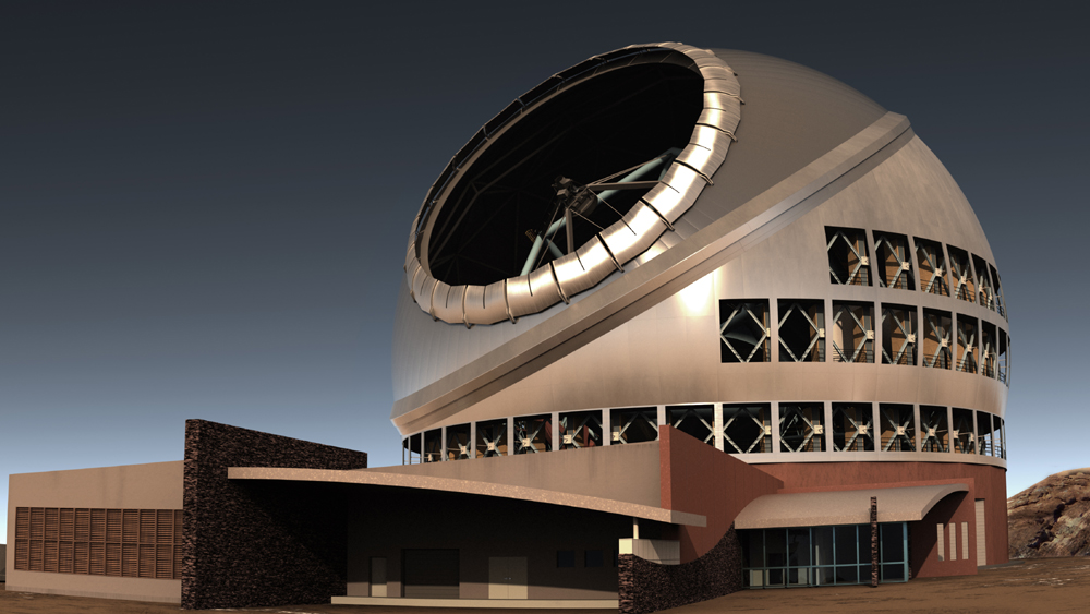 Rendering of the proposed Thirty Meter Telescope (courtesy TMT)
