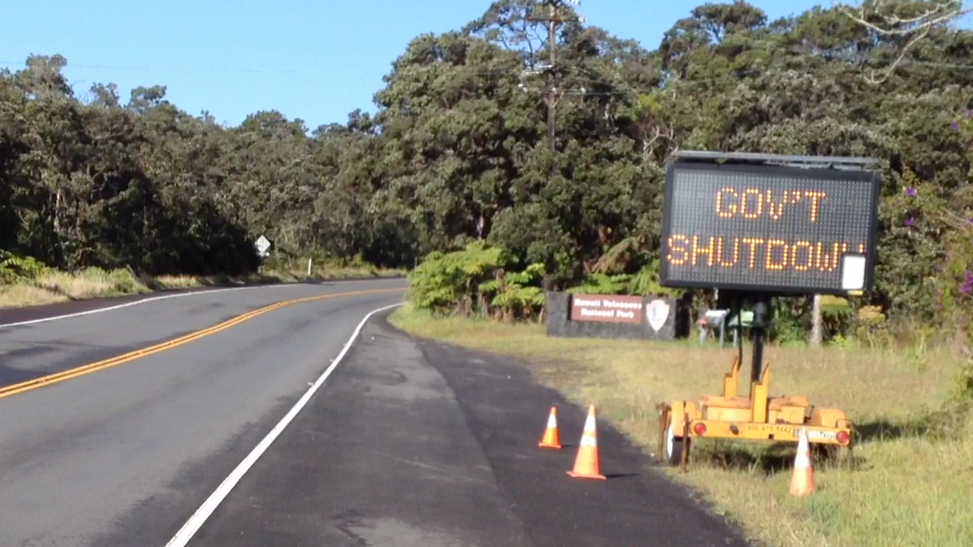 FED SHUTDOWN: Hawaii Volcanoes National Park closure