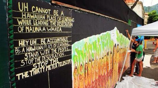 UH Mauna Kea mural cover-up ignites protest