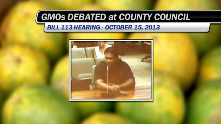 GMO bill 113 goes before Hawaii County Council