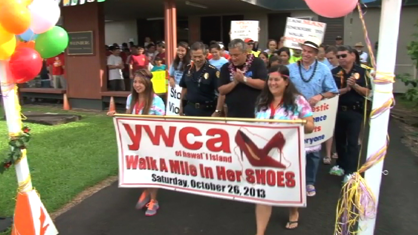VIDEO: YWCA Hawaii Island's Walk-A-Mile in Her Shoes